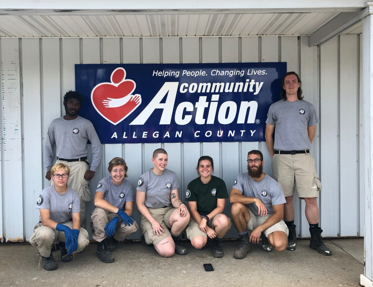 Group of Americorp volunteers at Community Action Allegan