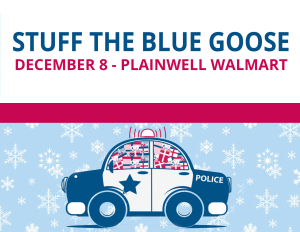 stuff the blue goose with michigan state police