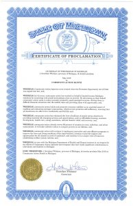 Community Action Month proclamation